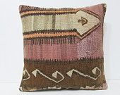 20x20 kilim pillow 20x20 large kelim pillow oversized throw pillow 50x50 cushion cover 50x50 kilim pillow big pillow cover coral red 23640