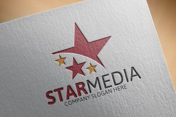 Star Media Logo by Josuf Media on @creativemarket