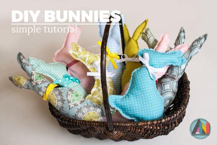 Faça estas almofadas rápidas e fáceis do coelho para Easter!