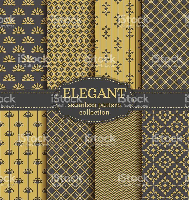 Abstract seamless patterns. Vector set. royalty-free stock vector art