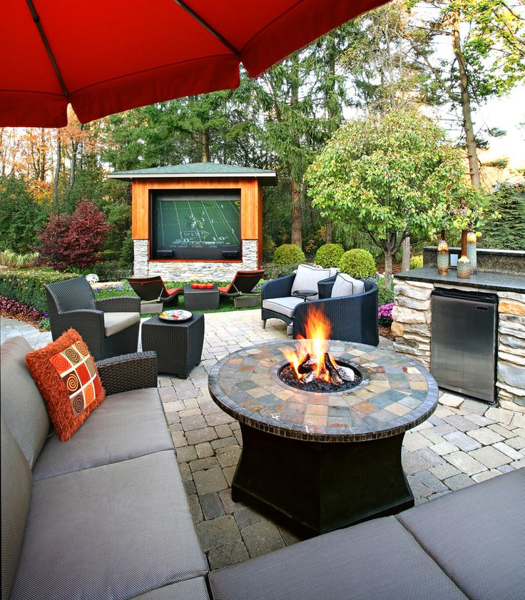 Exterior. Fantastic Cheap Backyard Patio Decorating Ideas For Contemporary Design Beige Outdoor Cushions With Round Slate Firepit Table Idea As Well As How To Make Outdoor Patio Cushions Plus Colorful Outdoor Furniture. Extraordinary Outdoor Patio Cushions Style
