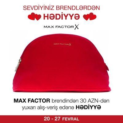 Max Factor brendindən 30 AZN dəyərində alış-veriş edənə kosmetik çanta hədiyyə #MaxFactor #hədiyyə #çanta