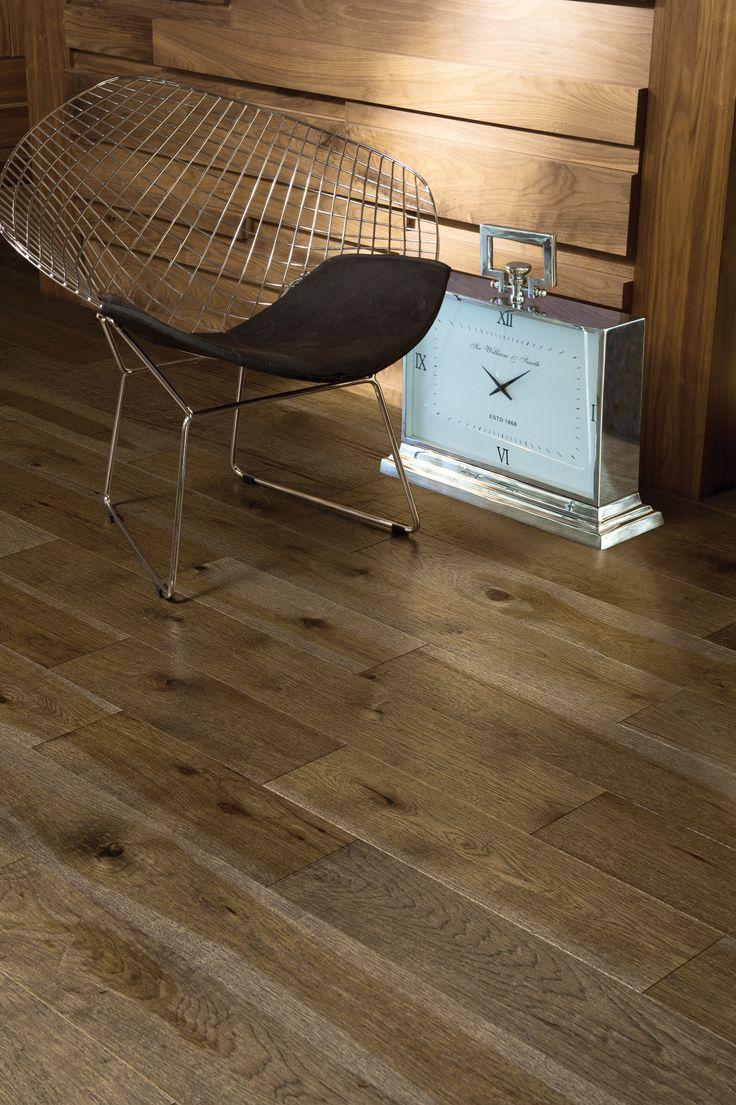 Collection Imagine | Plancher de bois franc en hickory d'antan couleur Fossil