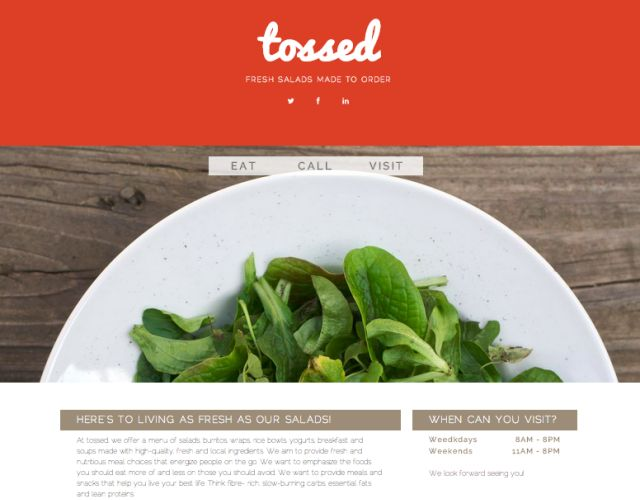 Tossed Salad Bar - Identity Design & Web/Mobile Presence