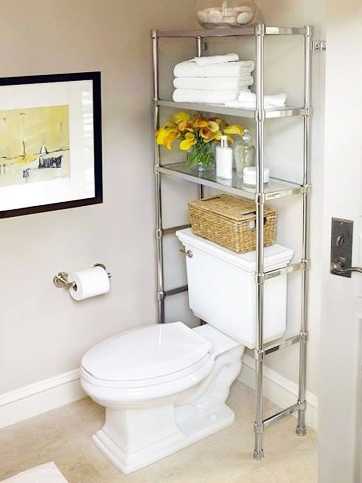 22 Space Saving Ideas To Make Any Small Apartment Feel Cozier In 2020 Bathroom Storage Over Toilet Over The Toilet Cabinet Diy Bathroom Storage