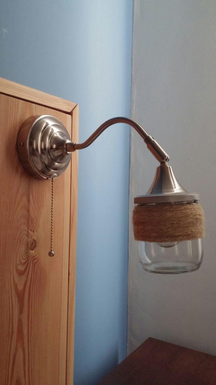 Ikea lamp met diy lampenkap