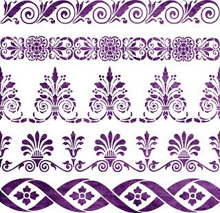 """Free SVG   Home Decorative Stencil   Borders ... Note there is a password required to open most of her files, which she gives near the download button. She changes out inventory now and then, so if you like it, """"grab it now"""". Personal Use Only."""