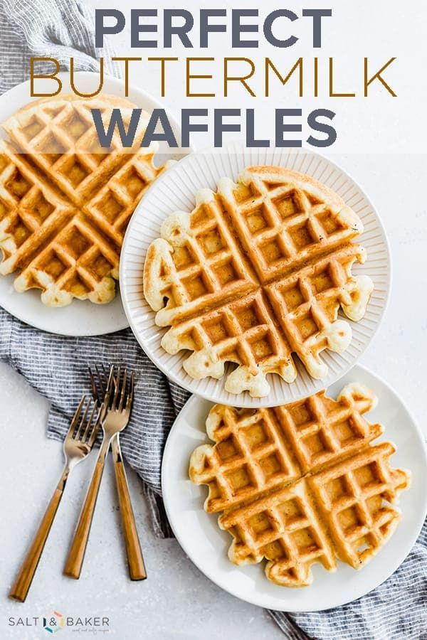 Beautifully Crisp On The Outside Light And Fluffy On The Inside This Buttermilk Waffle Recipe Resul Waffles Recipe Homemade Waffle Recipes Easy Waffle Recipe