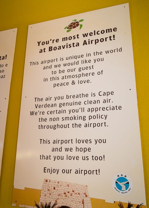 Boavista • Cape Verde - Finally an airport that loves me! - photo by Danne Eriksson