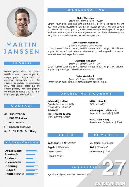 CV sjabloon in Word en PowerPoint. 2 versies in 1 pakket, inclusief volgpagina sjabloon. Direct in je mailbox na bestelling: http://deleydsche.nl/product/cv-sjabloon-27