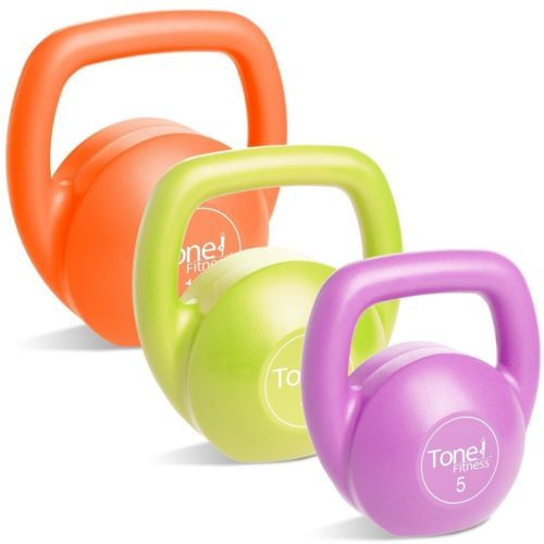 Kettlebells 179814: Tone Fitness Vinyl Kettlebell Set With Dvd 30-Pound Set New -> BUY IT NOW ONLY: $35.29 on eBay!
