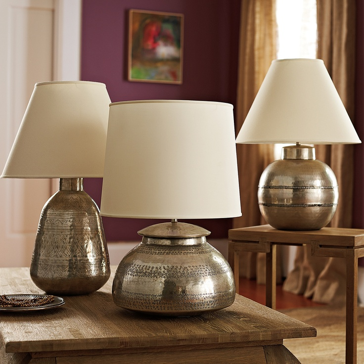 Serena And Lily Hammered Metal Lamp Collection