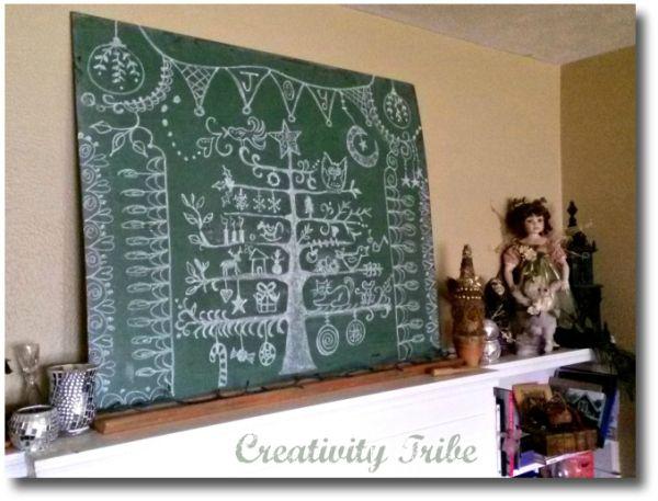 Chalkboard Christmas Tree at Creativity Tribe Studio