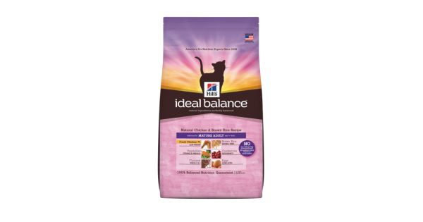 Buy Ideal Balance Mature Adult Cat Natural Chicken and Brown Rice Dry Cat Food Online from POPPO Pets