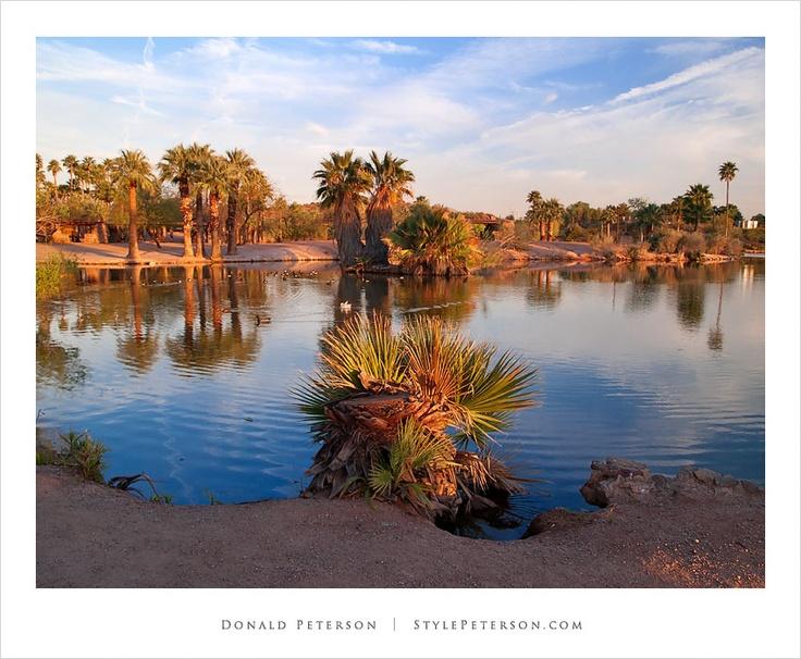 Sunset on the fishing lagoon papago park phoenix for Fishing in phoenix arizona