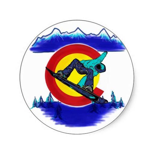 teal snowboarder colorado flag symbol sticker colorado stickers pinterest flags and snowboarding