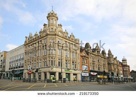 LEEDS, UK - SEPTEMBER 21, 2014: Commercial building. The Leeds City Region is the UK's largest economy and population centre outside London, generating 4% of national economic output - stock photo