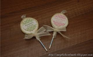 Lollipops - Gifts for christening.