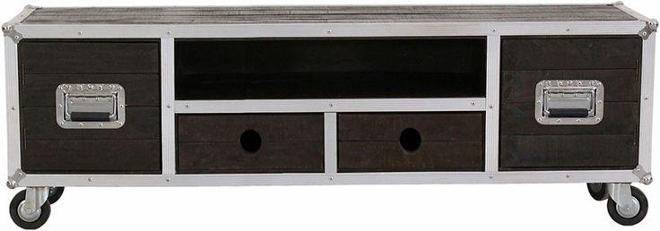 SIT TV-Lowboard »Dark Roadies«, Breite 200 cm, mit Aluprofilen und Rollen Jetzt bestellen unter: https://moebel.ladendirekt.de/wohnzimmer/tv-hifi-moebel/tv-lowboards/?uid=95479773-6ac7-543c-9633-21fdb5471e53&utm_source=pinterest&utm_medium=pin&utm_campaign=boards #tvlowboards #lowboards #wohnzimmer #tvhifimoebel