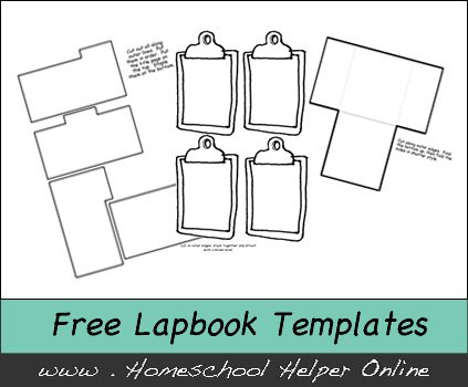 Free Lapbooking Templates - We have a variety of templates for you to customize and create your own lapbook elements.  We add free homeschool lapbooks regularly. Please check back, or sign up for our newsletter to learn about all of our new pages.