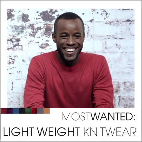 Light-weight knitwear. Winter's easiest dressing solution