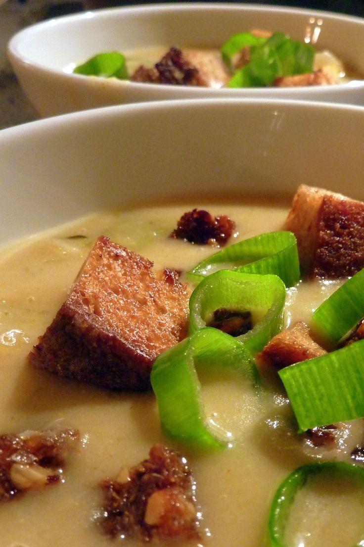 Gastromands kartoffel-porre-løgsuppe