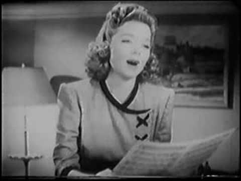 """Frances Langford & Kenny Baker:sing the Oscar Nominated Song from the movie """"Hit Parade of 1941"""" (1940) """"Who am I?"""" by Jule Styne (music), Walter Bullock (lyrics)"""