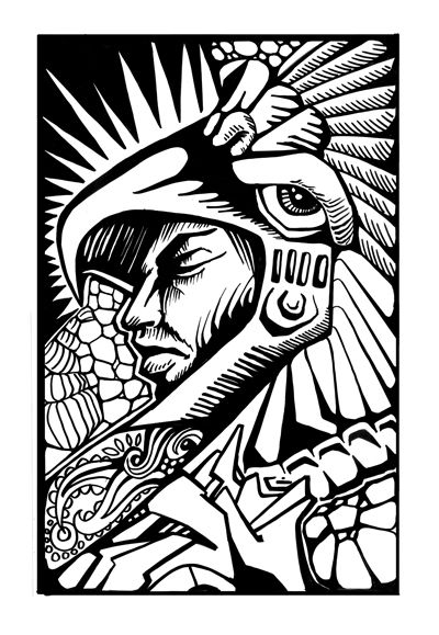 17 best images about prehisp nico dise o on pinterest for Aztec mural tattoos