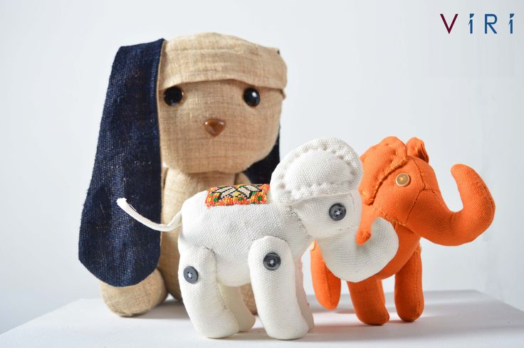 Stuffed toys - Rabbit & elephants set #VIRI #KIDS #TOYS #ANIMALS