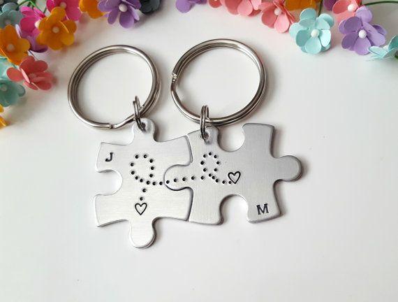 Puzzle Piece llaveros llaveros pareja regalo por CaliGirlCustoms