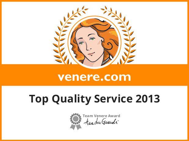 Top Quality Service 2013 - Venere.com Awards