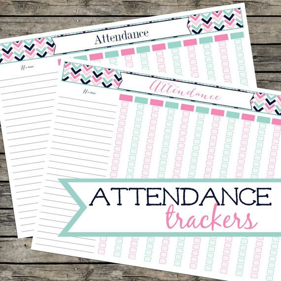 25+ parasta ideaa Pinterestissä Attendance list - attendance sheet for students