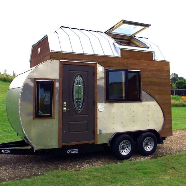tiny drop is 150 sq ft hybrid of teardrop trailer u0026