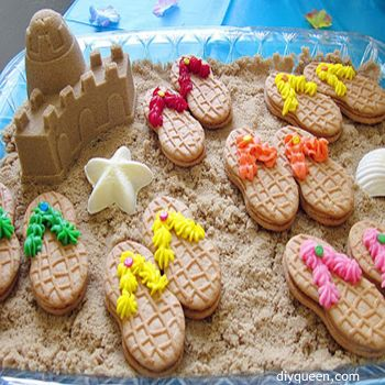 10 Fun Ideas for a Sizzling Summer Party. You won't believe how easy these flip flop cookies are to make.