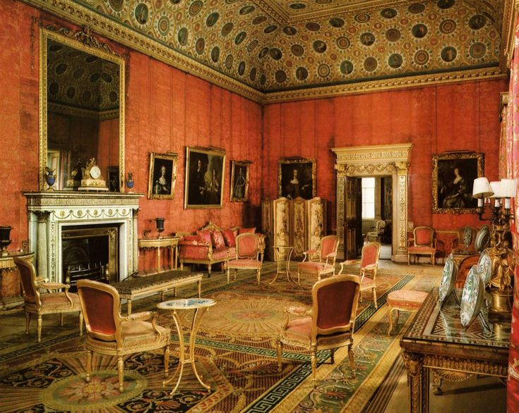 The Red Drawing Room Syon House Greater London