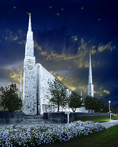 """""""Eternity"""" The most beautiful painting of the Boise Temple I have ever found. I wish I could afford this!"""