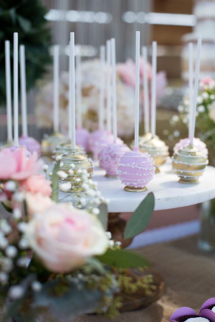 Cake pops from a Boho Rustic Chic
