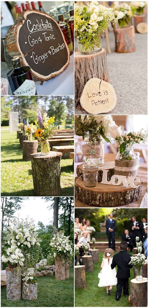 Tree Stump Inspired Fab Rustic Country Wedding