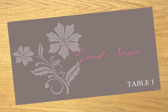 Place card wedding place card template by WeddingTemplatesHub