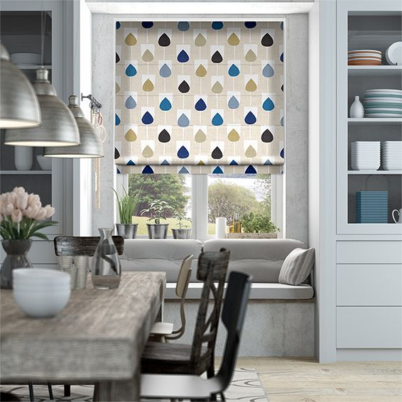 When it comes to creating a fun and inviting scheme, the Sula Sapphire roman blind carries all the hallmarks of a well-designed room.