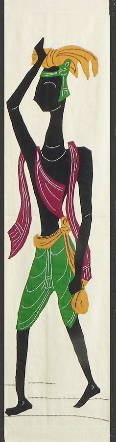 Villager Carrying Harvest to the Market - (Wall Hanging) (Applique Work on  Cotton Cloth)