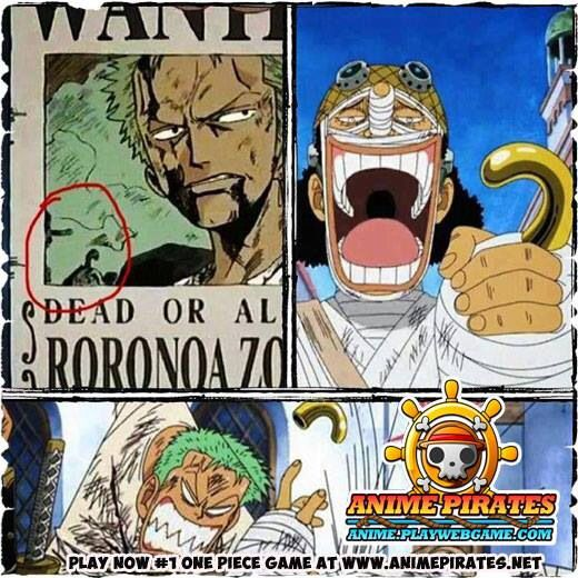 #One Piece #Funny #Zoro #Ussop #Wanted #Crocodile