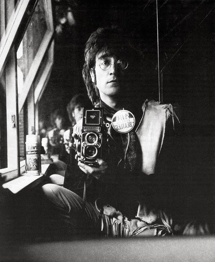 John Lennon - Self Portrait of John Lennon and his Rolleiflex in the attic of his house Kenwood, June 29, 1967. °