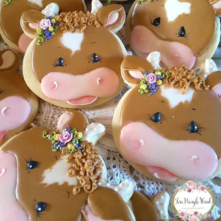 Cow cookies, decorated cookies,  country cookies,  farm cookies