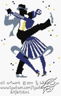 FREE PATTERNS - People - Ty Wilson - Lindy Hop - Gvello Stitch