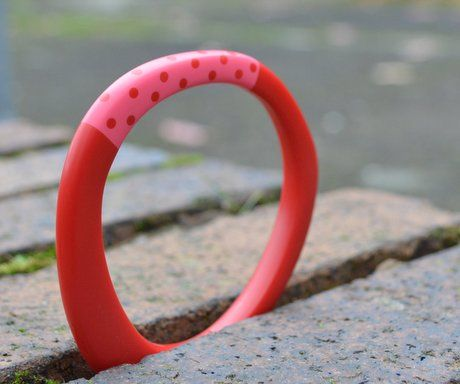 Red Resin Magnetic Bangle by Kaz Robertson
