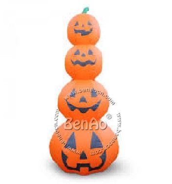 h020 3m halloween decorations inflatable halloween 4 pumpkin inflatable tower with lights outdoor halloween