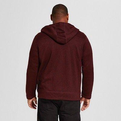Men's Big & Tall Sweater Fleece Hoodie Red XL Tall - Merona, Size: Xlt