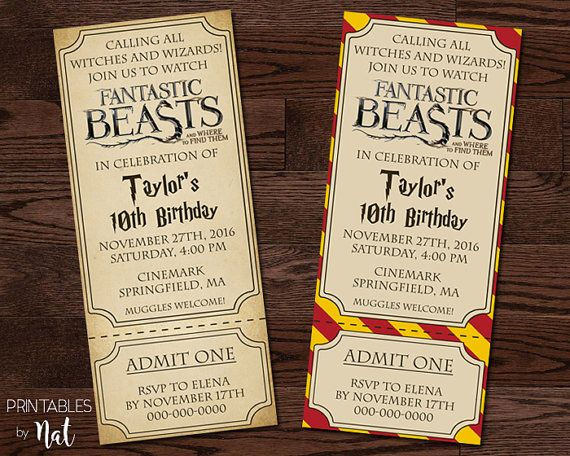 31 best Kidsbirthday images – Harry Potter Birthday Invitation
