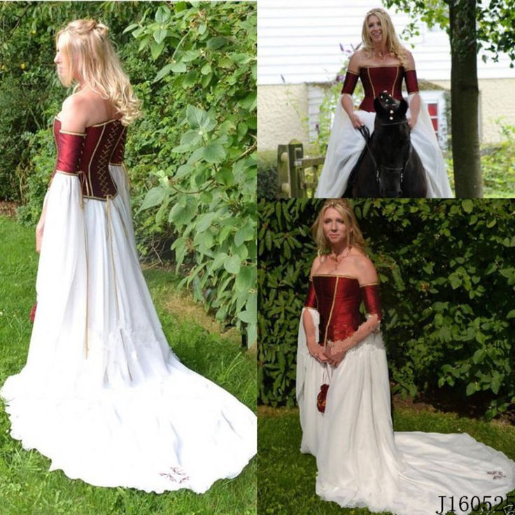 Medieval Victorian Renaissance Gothic Wedding Dress Vampire Cosplay Bridal Gowns